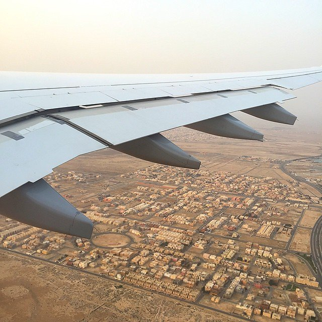 Flying high over Jeddah. #lufthansa
